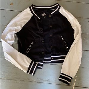 Justice girls cropped jacket